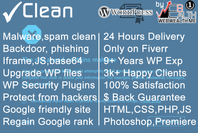 remove any WordPress Hack and Harden Security