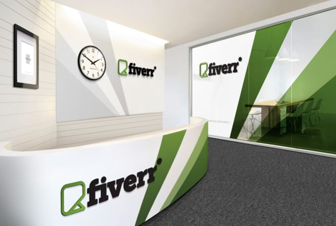 Put your logo to a virtual office walls by Fantagiro