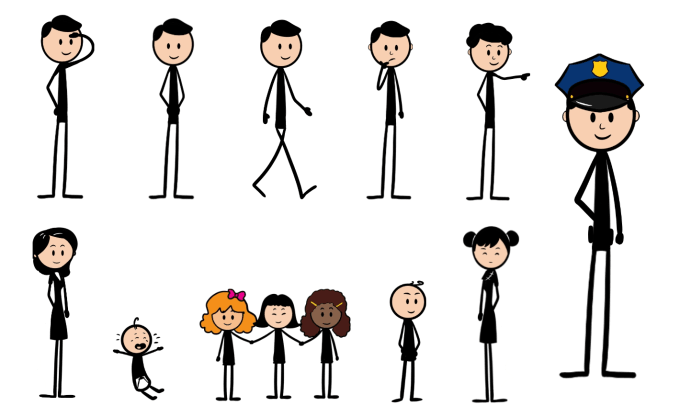 I Will Draw A Panel Stick Figure Clipart For You