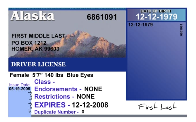 Photoshop templates of state drivers licenses by Jhathaway1