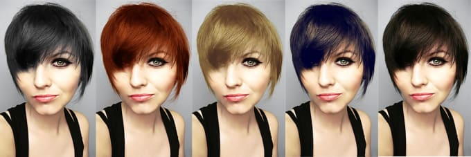 Naturally change your hair color in photoshop by Mexiro