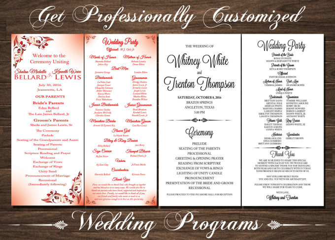 design your wedding program by natoyachung