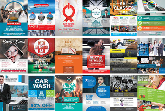 give 70 flyer poster templates in powerpoint and photoshop by alynna