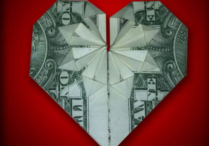 Image result for Dollar Bill Origami Heart Step by Step | Dollar ... | 474x680