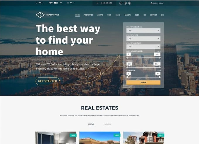 design idx real estate website
