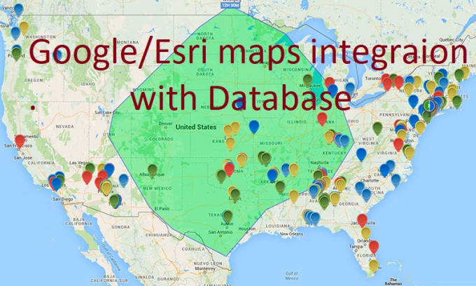 integrate google maps and esri maps API in your website