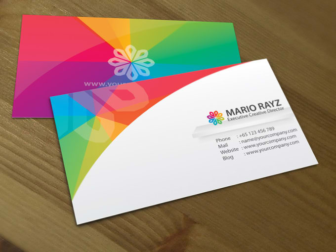 create a business card with bonus post card within 10 hrs