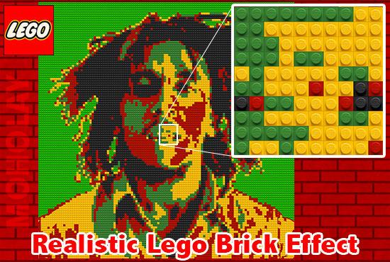 turn Any Image Into A Lego Brick Made Portrait