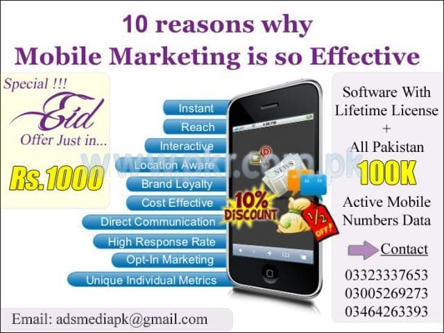 arzomandp : I will give u bd and India active mobile numbers for SMS  marketing for $5 on www fiverr com