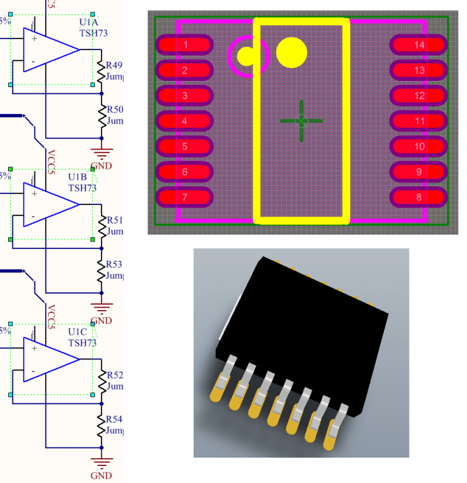 Create an altium designer library schematic and pcb footprint by Matcat
