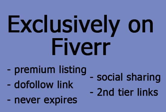svtdbird : I will give a premium listing on tinywebdirectory plus tweet url  for $5 on www fiverr com