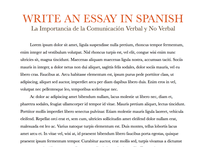 essay in spanish How to Write an Essay About Yourself in Spanish