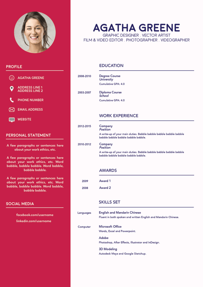 I Will Design A Professional And Beautiful CV Or Resume