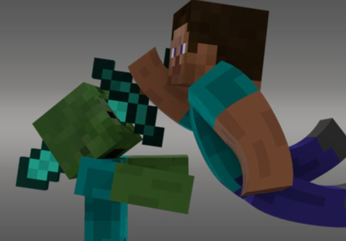 create you a minecraft 3d wallpaper with your own skin