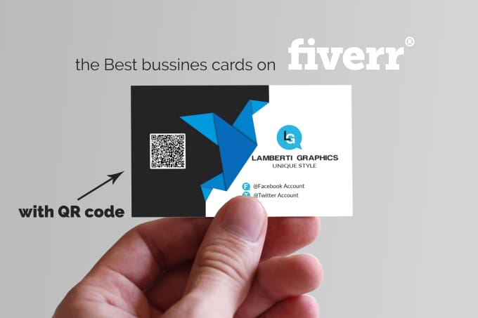 Design Business Card With Qr Code By Lamberti