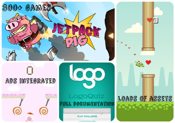 give you 300 plus Android, iOS, Unity and Graphic assets