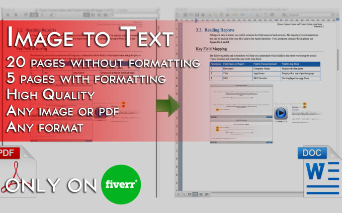 siriusartistry : I will convert an image or PDF to Word or editable text  for $5 on www fiverr com