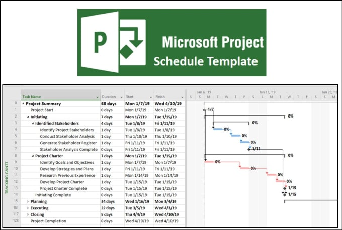 provide one microsoft project schedule template by weller34