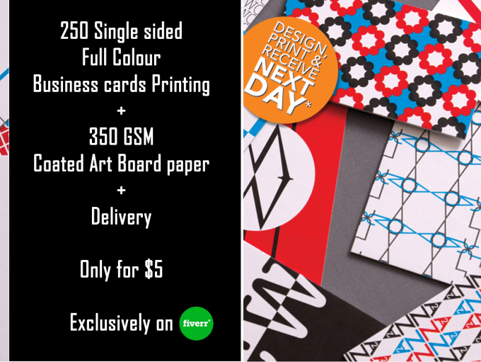 Print and deliver 50 full colour business cards by printingcafeuk print and deliver 50 full colour business cards colourmoves