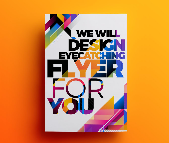 design an eye catching flyer or poster by infiniumtech