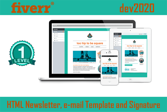 Do Responsive Html Newsletter Email Template Or Signature By Dev2020
