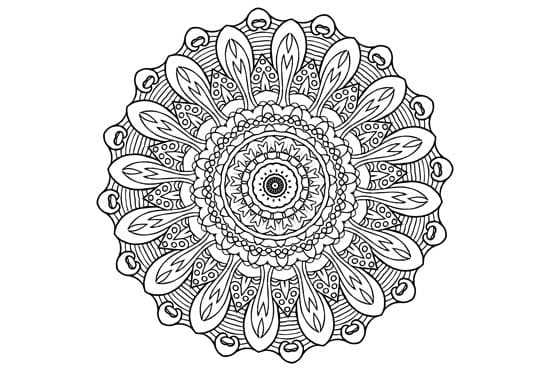 Create 50 Unique Mandala Coloring Book Pages By Coloringbooks