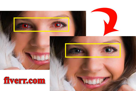 remove red eye effect from your photo by raihanul32