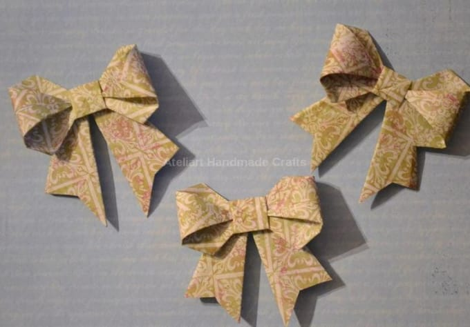 Make You 8 Red Origami Bows Great Addition To Valentines Day Gift