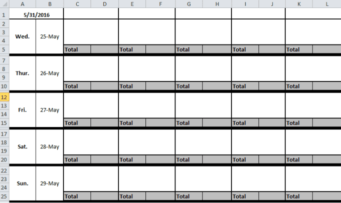 create an excel sheet for your employee schedule
