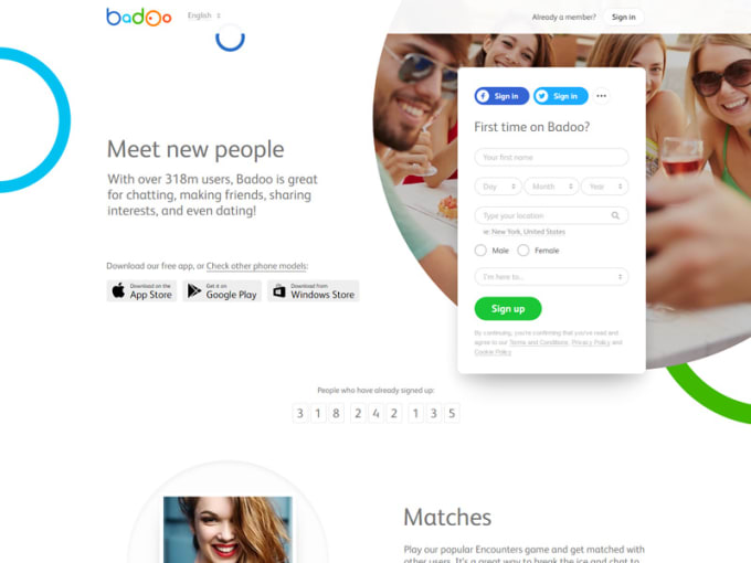 Free dating site like badoo