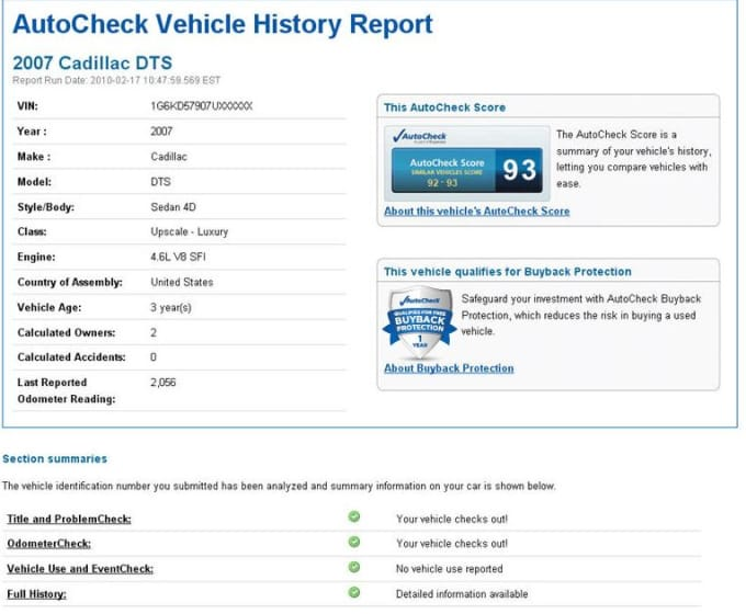 Autocheck Vs Carfax >> Send A Full Carfax And Autocheck Report Very Quick