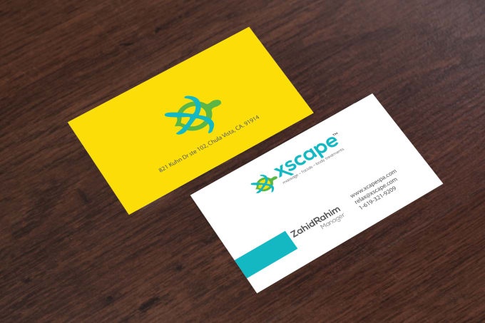 Design print ready double sided business cards
