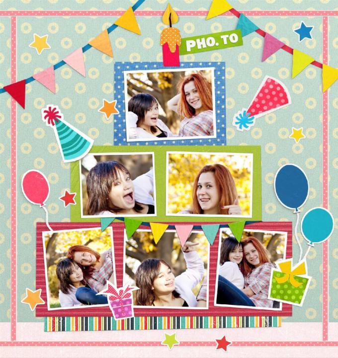 Сделать открытку онлайн из фотографии с днем рождения подруге