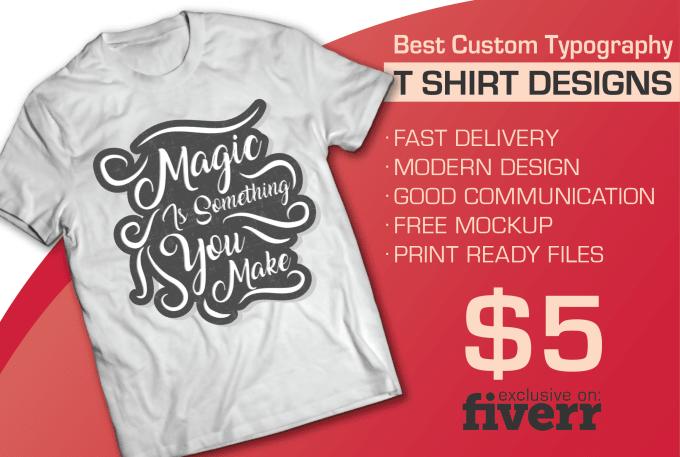 0aa3272c3 Create custom tshirt design for print by Bytesbee