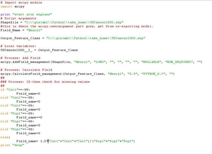 do Python scripting and modeling for GIS