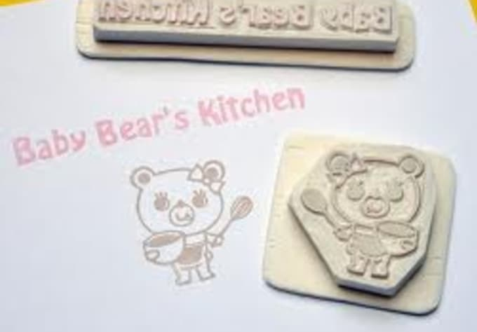 send you a custom rubber stamp with any text logo or photo you