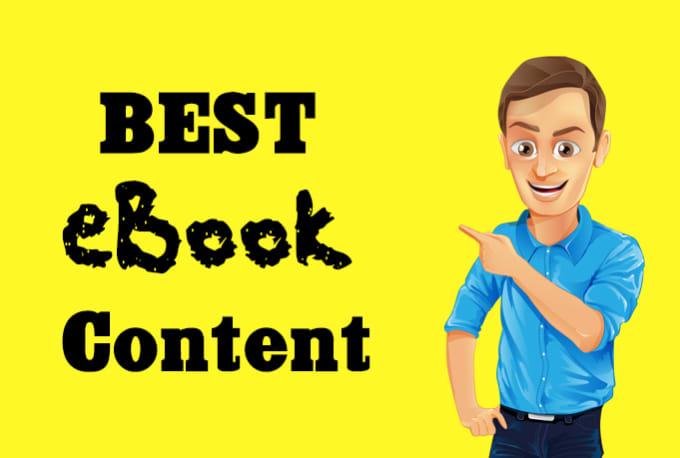 write a perfect ebook