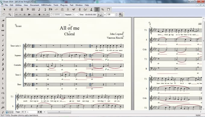 make a choral arrangement