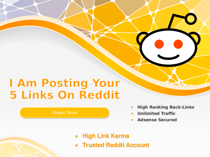 post your 5 links on my high karma trusted reddit account