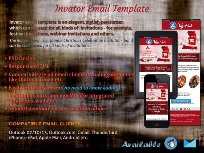 Provide An Invitation Responsive Html Email Template By Vishnu18