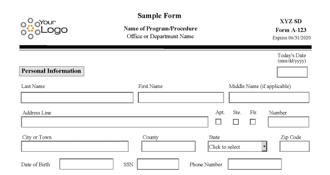 create a professional interactive PDF form