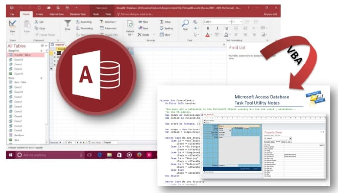 make ms access application or Support vba in ms Excel