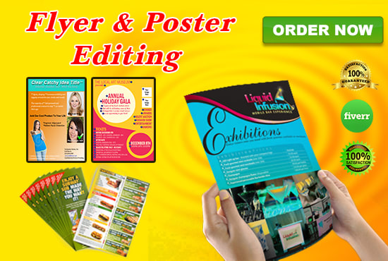 edit flyer brochure poster professionally by photo studiopro