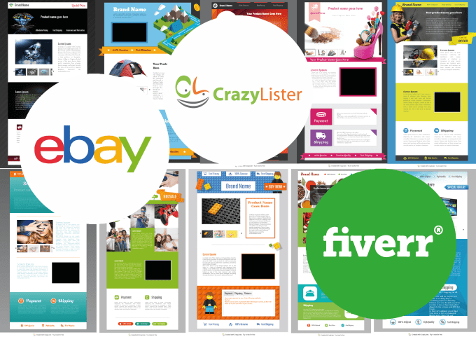 Design Html Ebay Listing Template In Crazylister By Studioight - Ebay page template