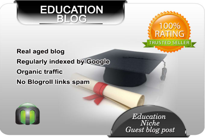 Write and guest post on my education blog by M2webs
