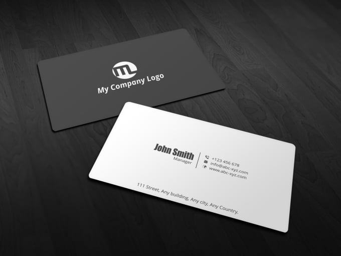 Do a simple and minimalistic business card by alishafiq16 do a simple and minimalistic business card colourmoves