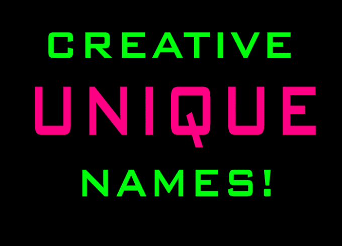 give you 10 original creative names for anything you want usernames, pets,  bands