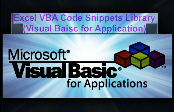 excel VBA Code Snippets Library By YasserKhalil
