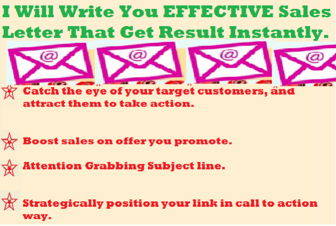 Write Super Effective Sales Letter That Get Result Instantly For