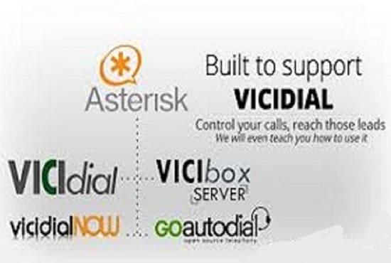 install Asterisk,Elastix,A2billing, FreePbx andVicidial